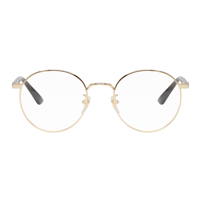 34bcd6ec7f Gold Round Glasses by Gucci buy at SUNDAY30.COM