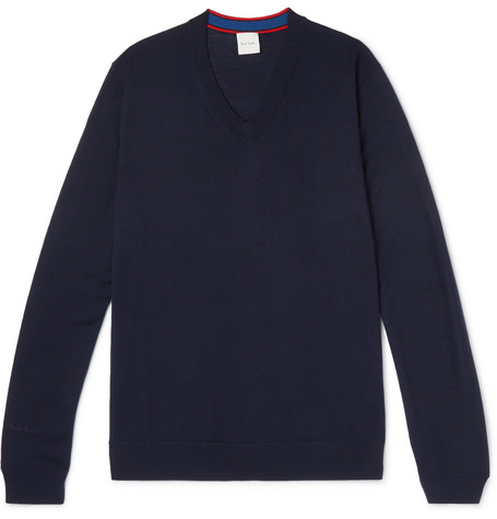 Paul Smith - Merino Wool Sweater - Navy, vendor code: 455783, photo 1
