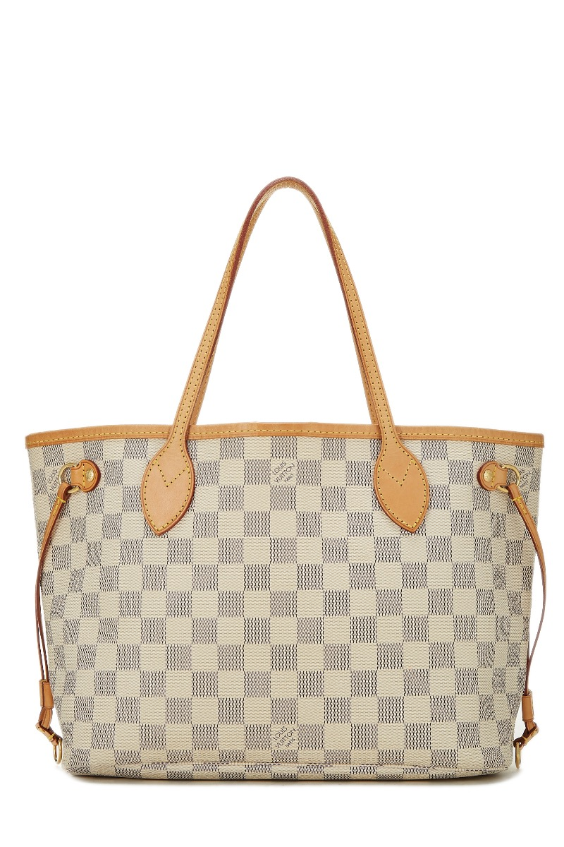 Damier Azur Neverfull PM by Louis Vuitton buy at SUNDAY30.COM be5d3bd38f629