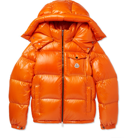 18f0be1a802c Montbeliard Quilted Shell Down Jacket - Orange by Moncler buy at ...