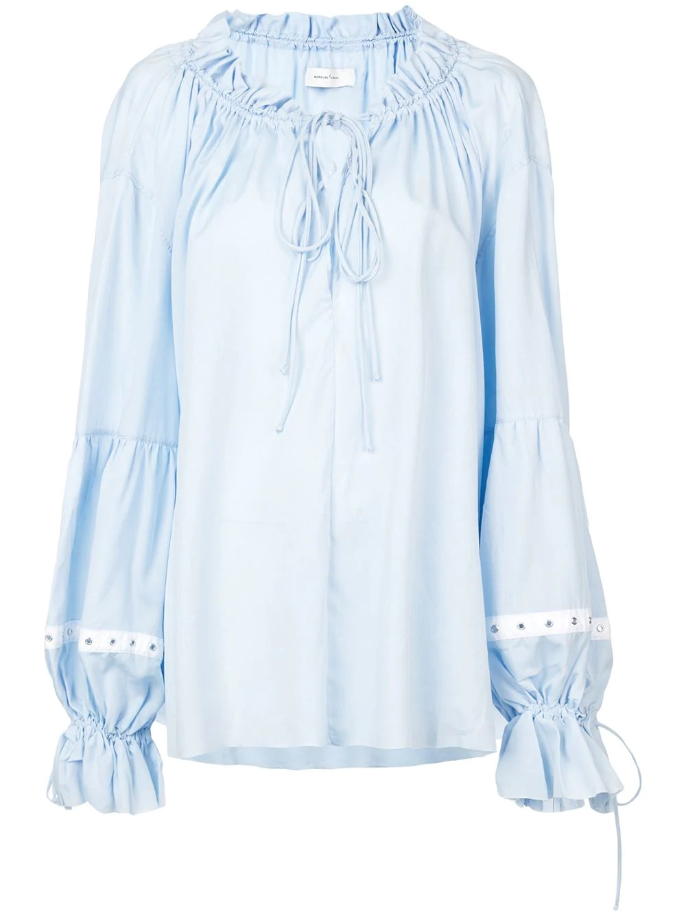Marques'Almeida - Blue Women's Pirate Blouse by Marques' Almeida buy