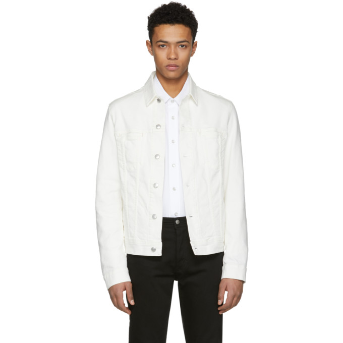Acne Studios Bla Konst White Pass Denim Jacket, vendor code: 456967, photo 1
