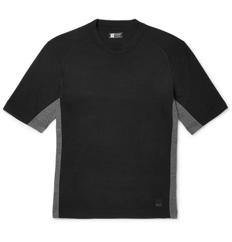 Z Zegna - Mesh-panelled Techmerino Wool T-shirt - Black, vendor code: 456789, photo 1