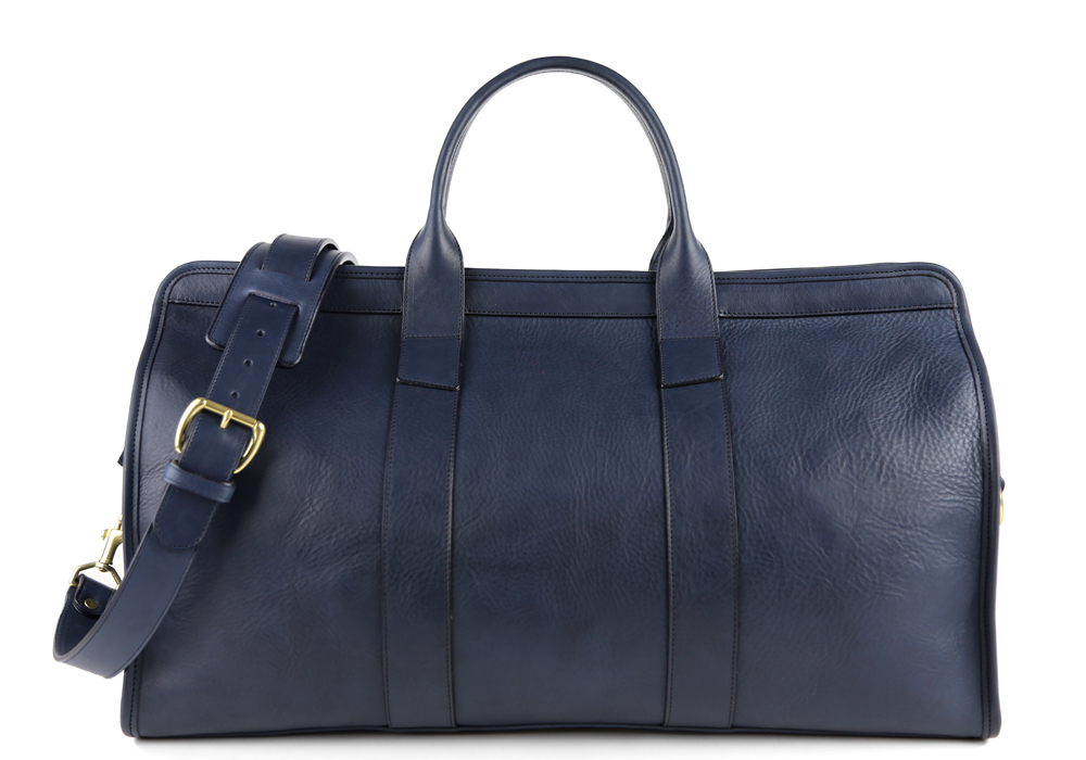 d3c6ee3ec779 Navy Signature Travel Leather Duffle by Frank Clegg buy at SUNDAY30.COM