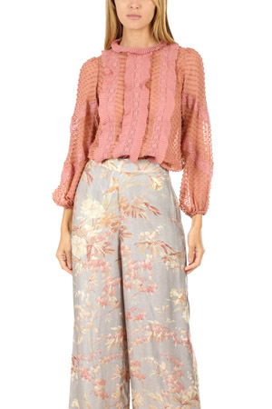 6d85fbd5019343 Unbridled Spliced Blouse by Zimmermann buy at SUNDAY30.COM