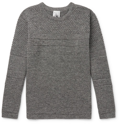 S.N.S. Herning - Mentor Panelled Mélange Merino Wool Sweater - Gray, vendor code: 455605, photo 1
