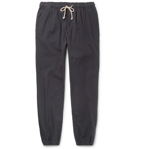 Mollusk - Jeffrey Tapered Cotton-twill Drawstring Trousers - Navy, vendor code: 456701, photo 1