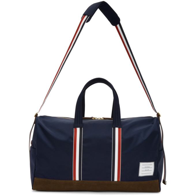 Navy Unstructured Holdall Duffle Bag by Thom Browne buy at SUNDAY30.COM a4e5c1c5e97dd