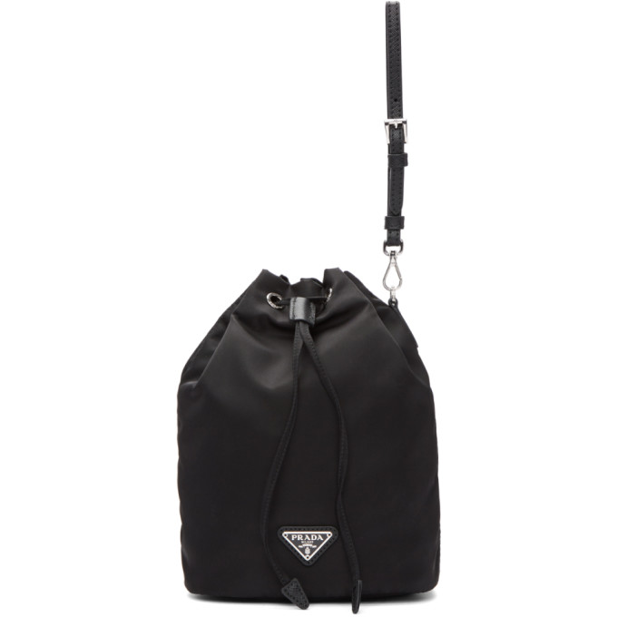 Prada Black Nylon Bucket Pouch, vendor code: 457131, photo 1