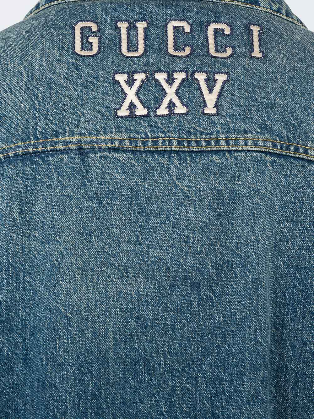 4942f785675 Blue Men s Denim Jacket With NY Yankees  Patch by Gucci buy at ...