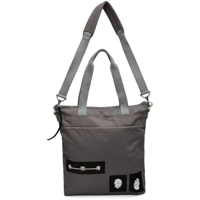 dcafe1e4a83 Grey Techno Trench Large Tote Bag by Rick Owens DRKSHDW buy at ...