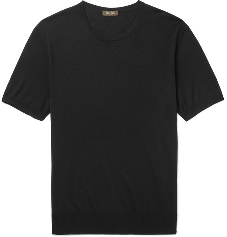 Berluti - Knitted Wool T-shirt - Black, vendor code: 456801, photo 1