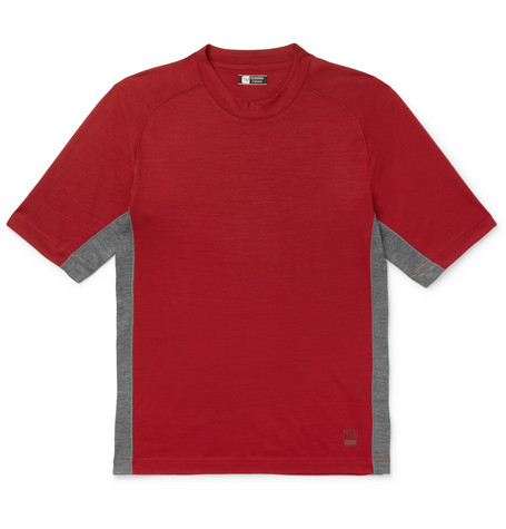 Z Zegna - Mesh-panelled Techmerino Wool T-shirt, vendor code: 456791, photo 1