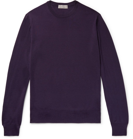 Canali - Merino Wool Sweater - Dark purple, vendor code: 455545, photo 1