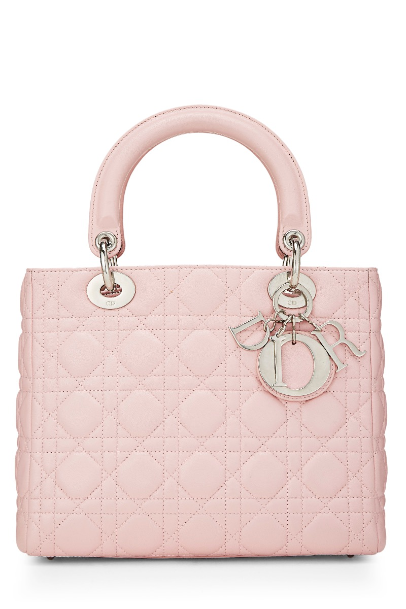 67e437c882ba Pink Cannage Quilted Lambskin Lady Dior Medium by Christian Dior buy ...