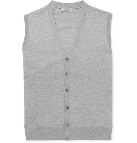 Canali - Slim-fit Merino Wool Vest - Gray, vendor code: 456839, photo 1