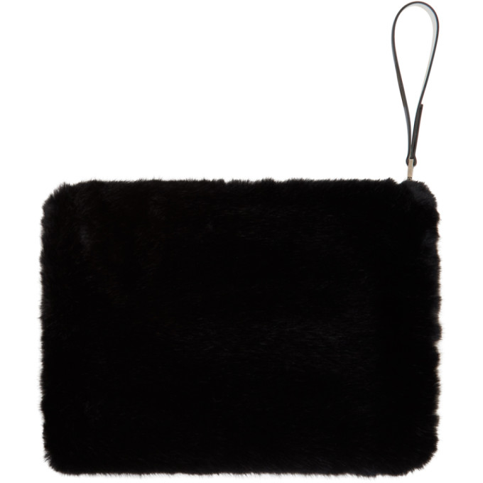 Givenchy Black and White Faux-Fur GV3 Pouch, vendor code: 457140, photo 2