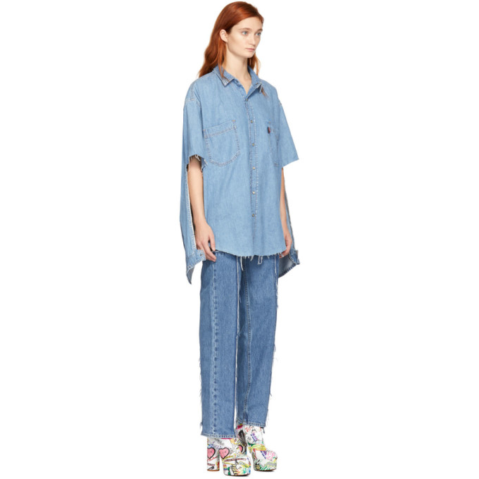 7e54c7b6f01 Blue Levis Edition Denim Oversized Shirt by Vetements buy at ...
