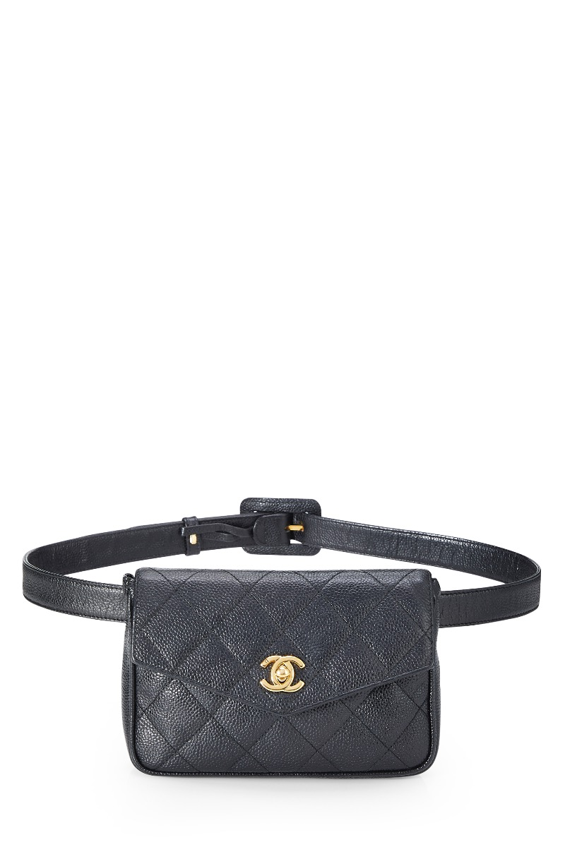 f6243847 Black Quilted Caviar Belt Bag by Chanel buy at SUNDAY30.COM