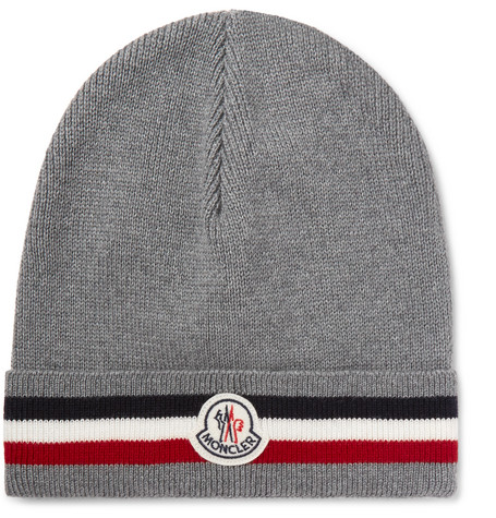 c39f54f0a2d Striped Virgin Wool Beanie - Gray by Moncler buy at SUNDAY30.COM