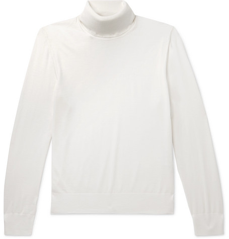 Z Zegna - Techmerino Wool Rollneck Sweater - Cream, vendor code: 456144, photo 1