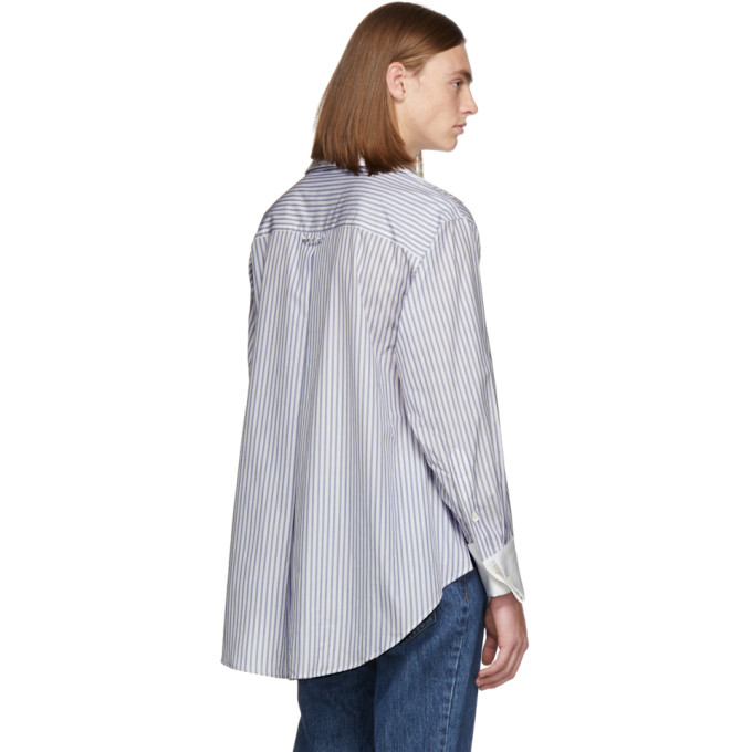 Matthew Adams Dolan White and Blue Oversized Oxford Shirt, vendor code: 457187, photo 3