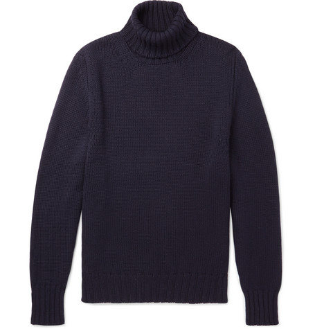 Anderson & Sheppard - Wool Rollneck Sweater - Navy, vendor code: 456142, photo 1